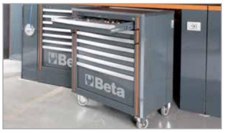 Tools24at Beta Werkzeugwagen Mit 7 Schubladen Für
